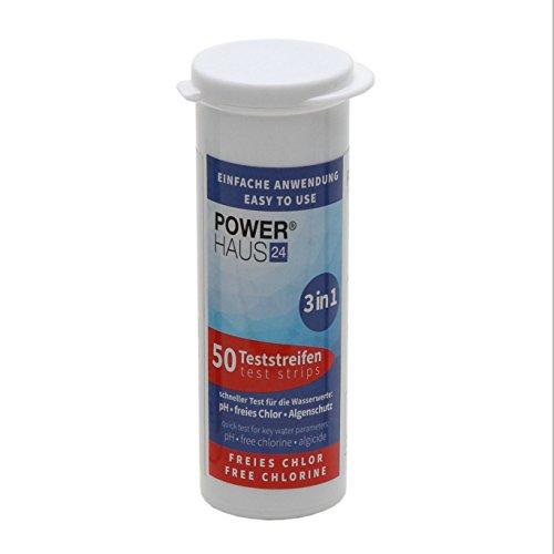 50 Teststreifen für Chlor / pH Wert / Algenschutz - Teststäbchen - Teststrips für Pool und Whirlpool (Whirlpool Chlor 1)