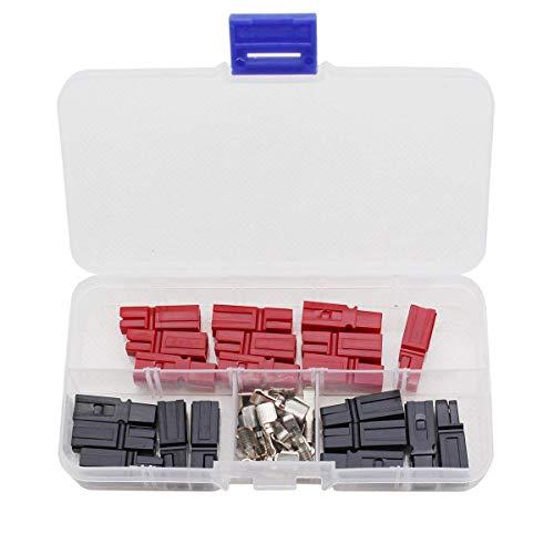 Raogoodcx 10 Paar Schnelltrennschalter 45 AMP 600V Netzstecker Batterie Stecker + Klemmen Rot Schwarz -