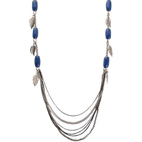 Bedazzled - Collana con perline blu e