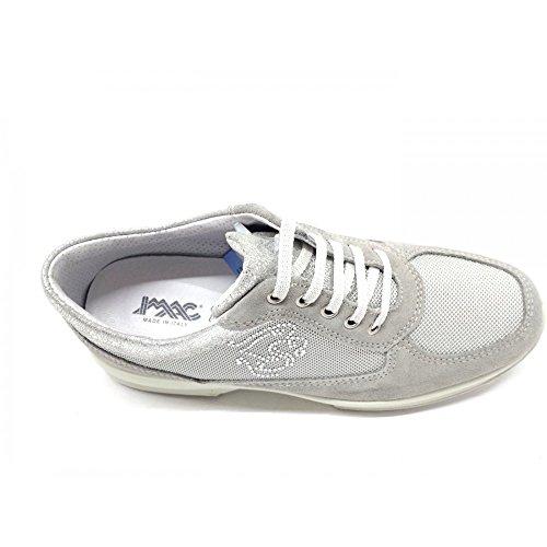 Imac 105831 Sneakers Scarpe Donna Vero Camoscio/Nylon Grigio Perla Grigio perla