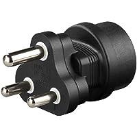 Goobay Schutzkontakt Buchse auf Südafrika Stecker Netzadapter Reiseadapter, 1 Stück, 95412