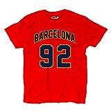 T-Shirt manner Barcelona 92 Red KiarenzaFD Streetwear Shirts