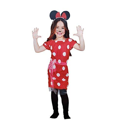 Costume minnie topolina carnevale vestito topina vestitino bambina 7-8-9 anni