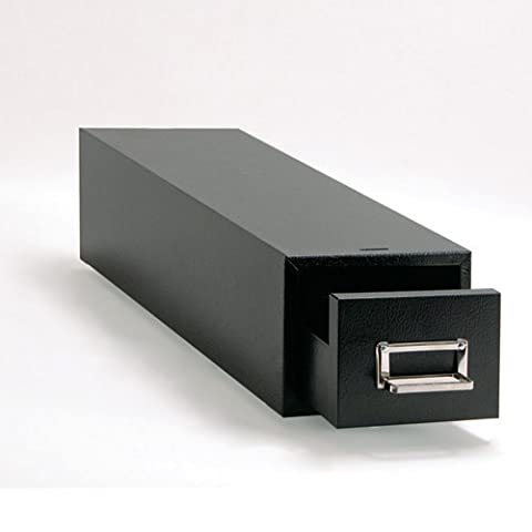 Buddy Products 1 Drawer 5 x 8 Inch Card File, Steel, 16 x 7.125 x 9.5 Inches, Black (1358-4) by Buddy Products