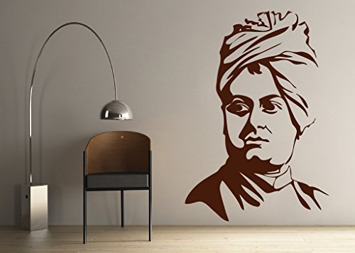 DECOR Kafe Home Decor Legend Swami Vivekanand Wall Sticker, Wall sticker for bedroom, Wall Art, Wall poster (PVC vinyl, 45 X 66 CM)  available at amazon for Rs.339
