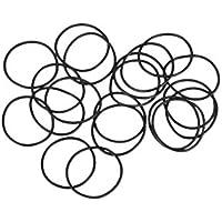 Anillos de goma de nitrilo uxcell de 20 mm a 50 mm de diámetro exterior de 1 mm de ancho, juntas de sellado