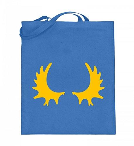 Hochwertiger Jutebeutel (mit langen Henkeln) - Jutebeutel Schweden Blau