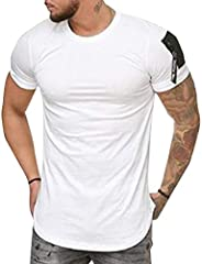 GAGA Men Workout Short Sleeve Gym Training Bodybuilding Muscle Fitness T Shirts