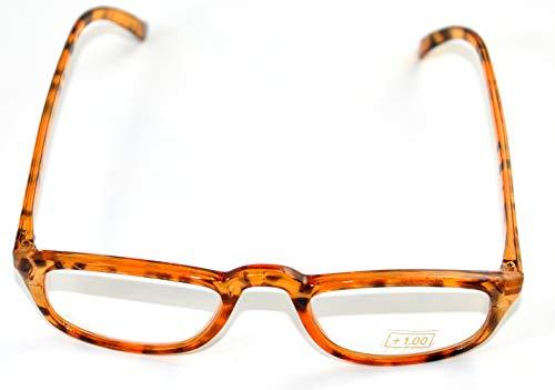 jameitop®Lesebrille mit Stärke 1 Dioptrien ohne Rezept zum Lesen Hornbrille Nerd