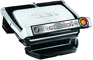 Tefal Contact Indoor Electric Grill Optigrill Plus/BBQ, GC715D28, Black, 1 Year Manufacturer Warranty