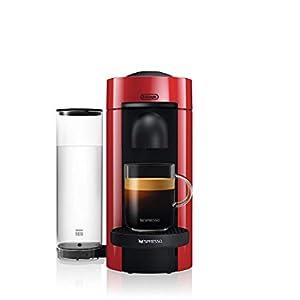 DeLonghi Nespresso vertuo, in plastica, Una macchina da caffè, 3 taglie | 1,1 L | rosso