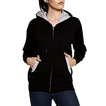 GOODTRY GoodtryG Women's Cotton Hoodies-Black