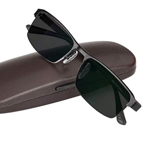 Jackson wang Lesebrille, photochrome Progressive Sonnenbrille mit intelligentem Übergang, Federstecker aus Edelstahl, Solarkartenleser, Männer/Frauen,Black,+1.75