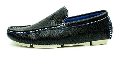 Unisexe Mocassin À Enfiler Décontracté Mocassins Chaussures Semelle Antidérapante Confort Mode Semelle Tailles Noir