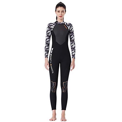 ANRIRA In voller Länge Wetsuits der Frauen, 3mm Wet Suit Jumpsuit-Mädchen-Lange Hülsen-Badeanzug mit rückseitigem Reißverschluss für das Schnorcheln des surfenden Kayaking,Purple,M