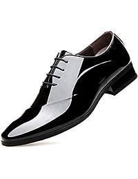 53dfe79f0c69 XI-GUA Herren Business Schuhe aus weichem Leder Spitze Herren Urban Fitness  Schuhe Herbst und Winter niedrig um Elegante Schuhe…