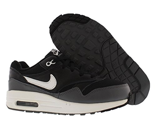 Nike Junior - Air Max 1 (gs) - Foto Bianco Blu Slate - Uk 3.5 (black white dark grey 014)