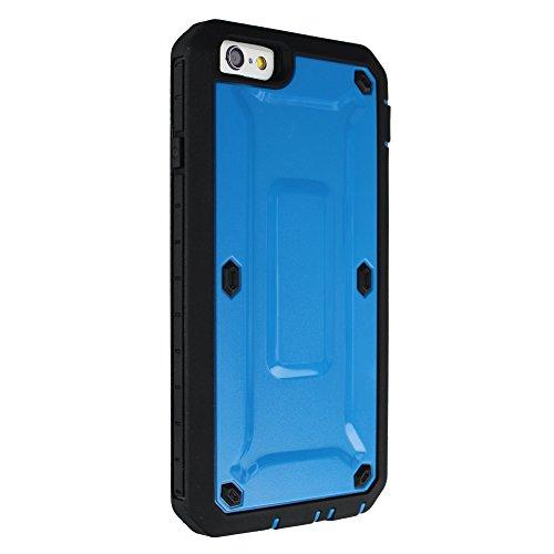 xhorizon® Für iPhone 6 Plus(5.5 inch) Robust Schwerlast Doppelschicht Stoßfest Gehäuse Hülle / Weich HybridCase Hülle + XHORIZON Stift & Reinigungstuch Blau