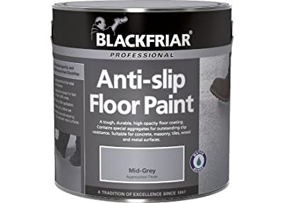 Blackfriar Anti Slip Floor and Step Safety Paint Mid Grey - 1 Litre - low-cost UK light shop.