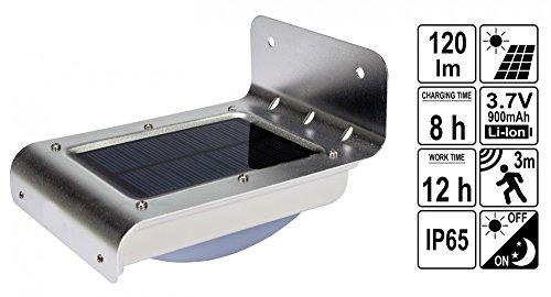 Preisvergleich Produktbild LED Solarleuchte Aussenwandleuchte mit Bewegungsmelder 16SMD-LED 120LM