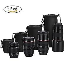 GHB4x Sacchetti Lenti ProtettiveFotocamera BorsaCustodiaCover Borsa Neoprene Protettiva Porta Obiettivo DSLR Fotocamera per Sony Canon Nikon ecc.con Chiusura a Cordoncino