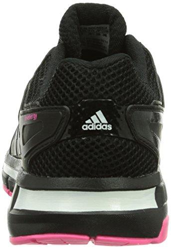 adidas Revenergy Mesh Boost, Damen Laufschuhe Schwarz (Black 1 / Black 1 / Neon Pink)