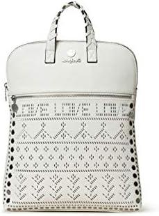 Desigual - Bolso mochila de Sintético Mujer, color Blanco, talla 11x35.5x28 cm (B x H x T)