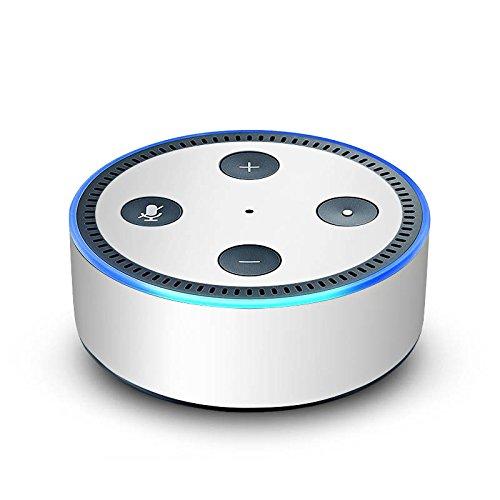 amazon Echo Dot 2.Generation Folie Skin Sticker aus Vinyl-Folie Weiss White Sommer