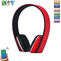 iPhone 8 Bluetooth Headset, TechCode New sports Running Headset Wireless Stereo Bluetooth Headphone Adjustable Head Type 4.0 Bluetooth Earphone Mic for iPhone 7, 7 Plus, iPhone 8, 8 Plus, iPhone X, Samsung Galaxy Note 8, S7 Edge,Tablet PC/Other Bluetooth Moblie Phone -Red