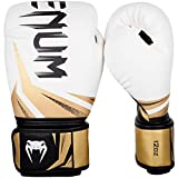 Venum Challenger 3.0 Gants de Boxe Mixte Adulte, Blanc/Noir/Or, 14 Oz