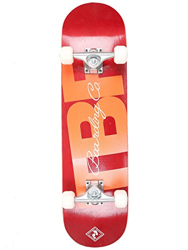 two-bare-feet-kids-double-kick-complete-skateboard-cruiser-concave-deck-tbfbc-red-31-x-8-inch