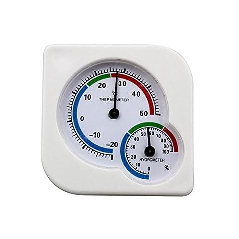 sunnymi Indoor Digitales Thermo Hygrometer /-20-50 ° c/Outdoor MIni Thermometer Temperaturtemperatur Meter/Büro Restaurant Hotellobby Gartenklassenzimmer Labor Werkstatt und Haus
