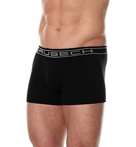 BRUBECK® 3x BX10050 COMFORT COTTON Herren Boxer Shorts / Slips | Funktionswäsche | Nahtlos | Formstabil | Atmungsaktiv | Fusselfrei Black / A