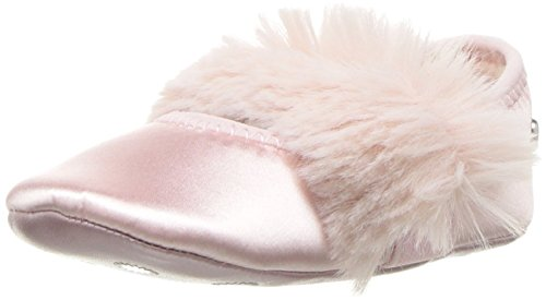 culla Girl Baby pink Fluff Satin/eco fur Newborn Shoe [18] ()