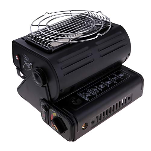 Cuticate 2 in 1 riscaldatore del fornello portatile, stufa di riscaldamento del gas 1.3kw per le pentole di campeggio, stufa dello scaldino della tenda strumen