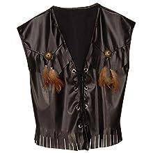 Western Vest Leatherlook Accessory for Fancy Dress