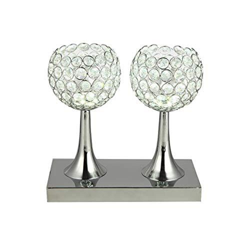 YJFFAN Kreative K9 Kristall LED Tischlampe Kunst Beleuchtung Einfachheit Moderne Kreative Weinglas...