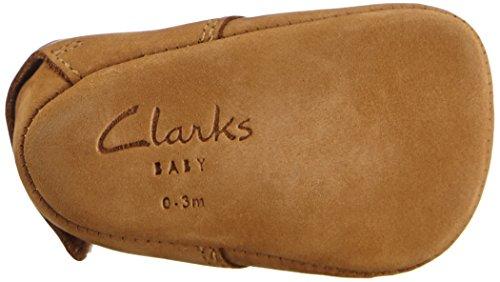 Clarks Warm, Chaussons mixte bébé Marron (Tan)