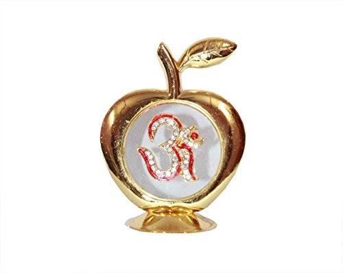 Odishabazaar Golden Apple OM Idol Voiture Tableau de bord Bureau à domicile Cadeau - 9 x 6 cm