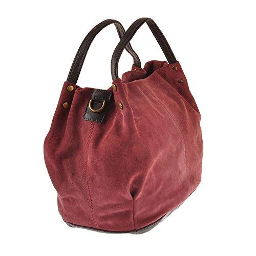 Pellevera Fleur Sac hobo, sac à main, sac bandoulière (noir) chianti rouge