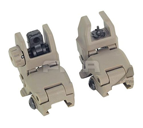 AIRSOFT FMA MBUS GEN 1 BACK UP SIGHTS M4 IRON SIGHT DARK EARTH MBUIS BUIS PTS UK