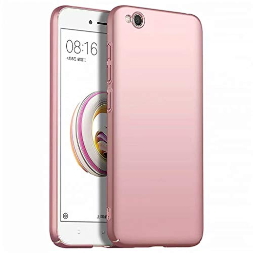 Funda Xiaomi Redmi GO Caja Caso MUTOUREN PC Carcasa Anti-Scratch Anti-rasguños Bumper Protectora de teléfono Case Cover para Xiaomi Redmi GO (Oro Rosa)