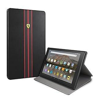 Ferrari Hülle für FireHD10-Tablet (nur geeignet für Geräte der 7.Generation - erschienen 2017), Modell Urban, mit Schlaf-/Wach-Funktion, Schwarz