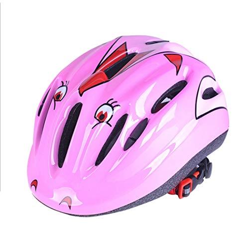 Xiaochou@sl Casque de Protection, Casque de Protection aérodynamique intégré pour Les Sports de Plein air pour Enfants, adapté au Tour de tête: 46-59 cm. sécurité (Couleur : Rose)