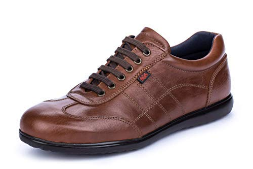 DCalderoni Aneto Marrón Zapato Piel Casual con Cordones para Hombre 46 EU