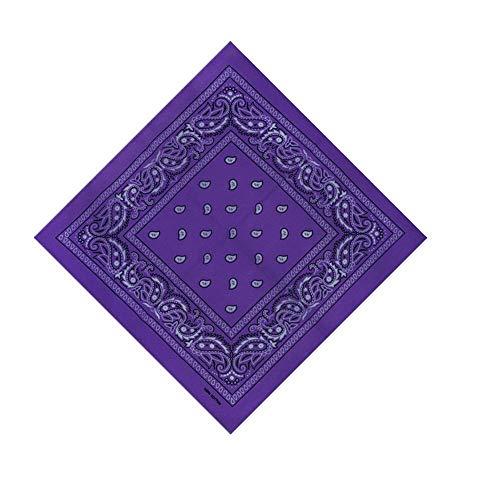 VRTUR Bandana Kopftuch Halstuch Nickituch Biker Tuch Motorad Tuch verschied Farben Paisley Muster als Halstuch, Taschen, Hunde und Mode-Accessoires 100% Baumwolle(Einheitsgröße,X)