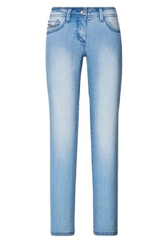 8faa05612761 Million X Damen Push up - Bauch weg Jeans VICTORIA Basic W38 L30, light blue