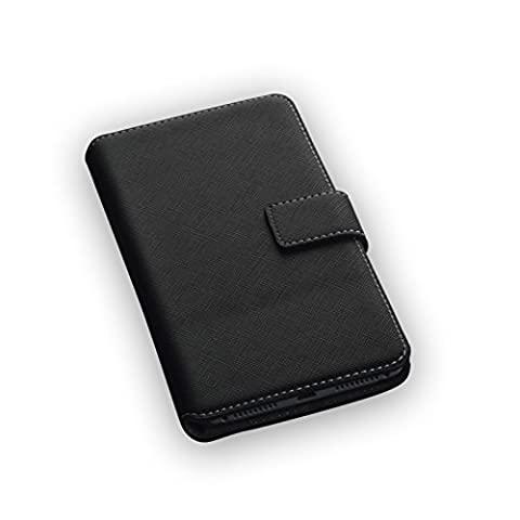 Hochwertiges Bookstyle Handytasche Flip Case schwarz für