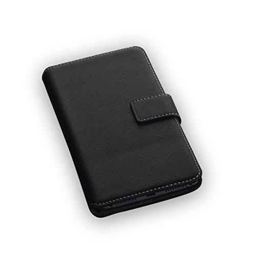 """Hochwertiges Bookstyle Handytasche Flip Case schwarz für \""""Huawei Mate 8\"""" Handy Schutz Hülle Etui Schale Book Case Cover"""