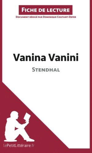 Vanina Vanini de Stendhal (Fiche de lecture): Résumé Complet Et Analyse Détaillée De L'oeuvre